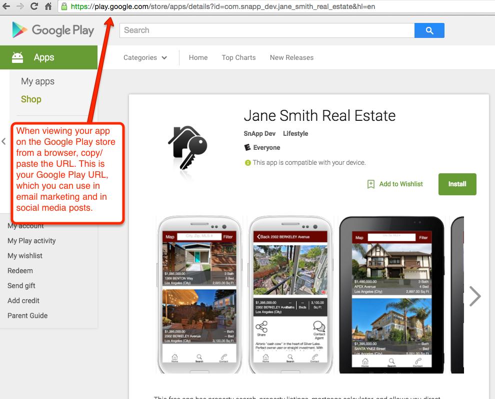 Google Play URL