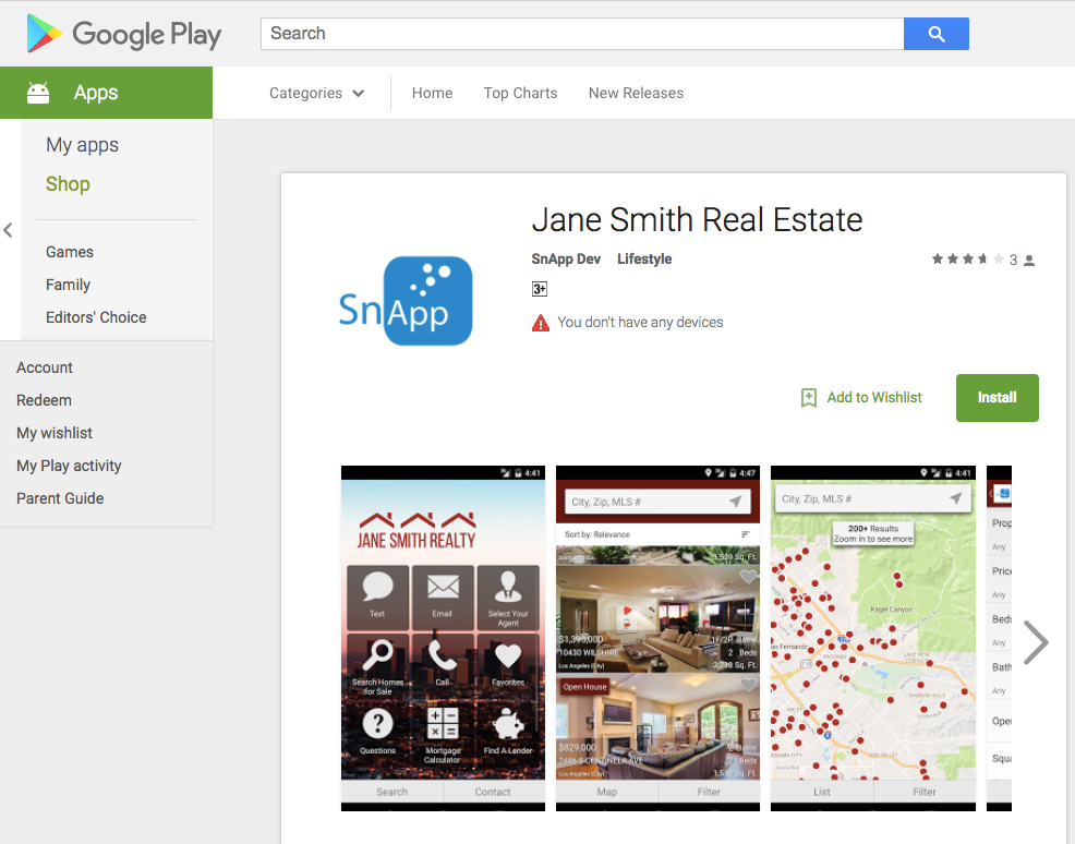 Mobile Apps for Real Estate Agents | SnApp Apps